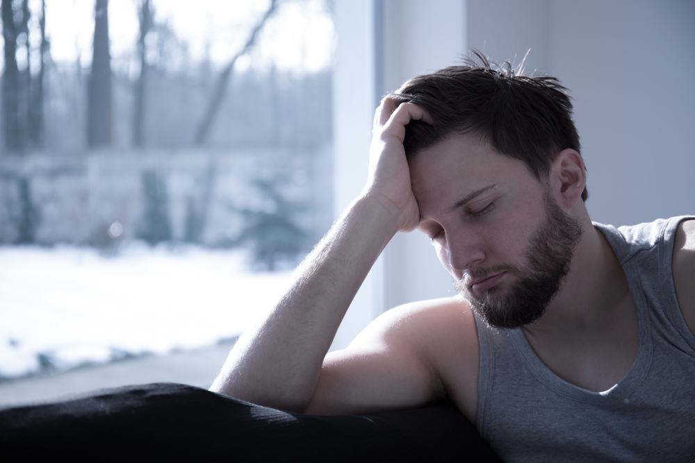 man under significant stress and anxiety