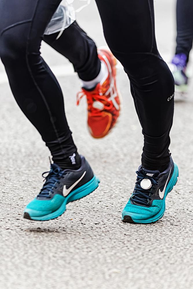 lower legs of runners