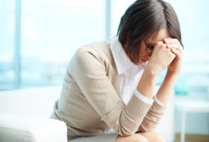 woman with chronic pain